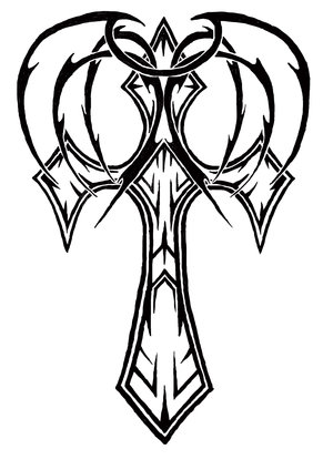 Greek Cross Tattoo Design