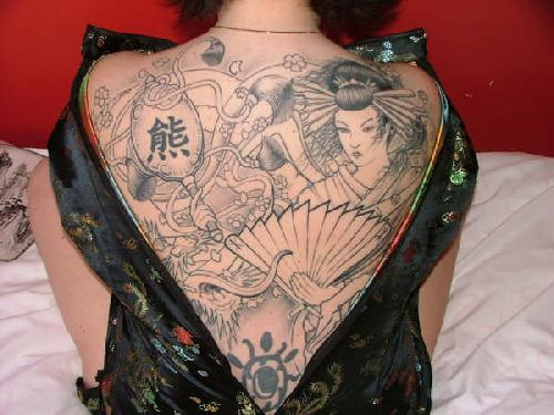 Dragon tattoos are commonly placed on the upper arm covering the outer