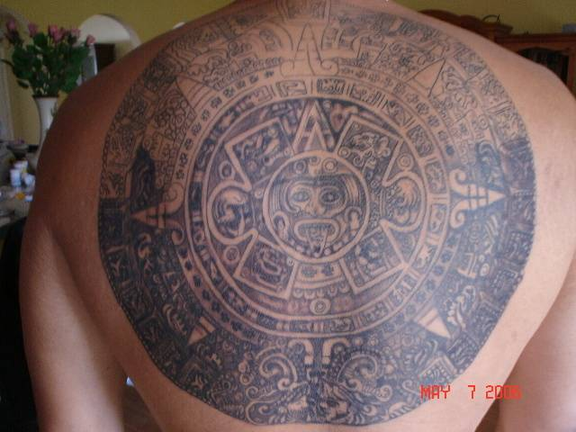 free aztec tattoo flash