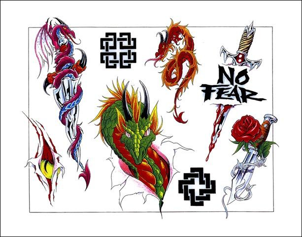 free dragon tattoo flash