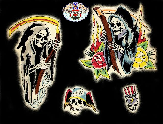 SAILOR JERRY FLASH ART Great item, framable flash sheet. free flash tattoo