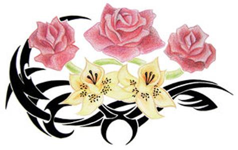 Flower Flash Tattoo – Tattoo Design – Free Tattoo Design