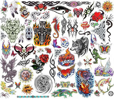 Bullseye Tattoos on 2006qm Bullseye 2006 Monster Collection Tattoo Flash Set