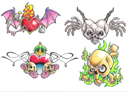 free tattoo flash sheets. After you order a piece you will receive a line