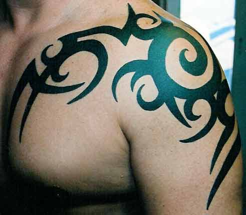 upper back tattoo to be so oddly positioned that it sticks out like a