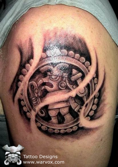 The Aztec tribal tattoos are