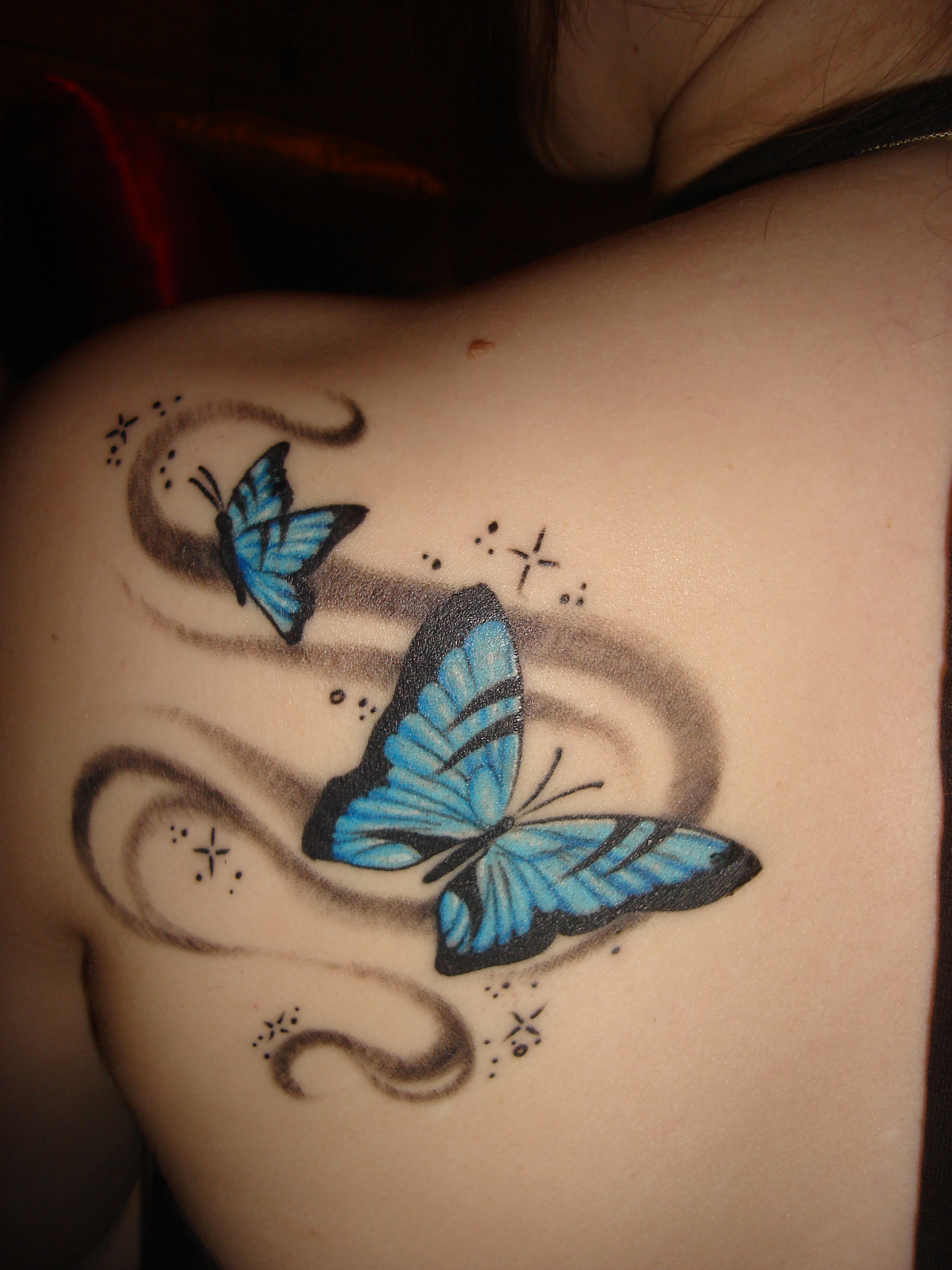 butterfly tattoo art tribal tattoos design. Black Bedroom Furniture Sets. Home Design Ideas
