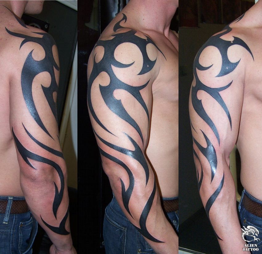 awesome tattoo tribal arm designs | Tribal Tattoos Design