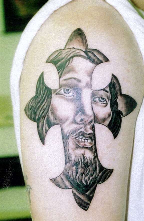 crosses tattoo art