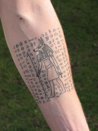 egyptian art tattoo