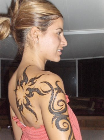 Feminine tribal tattoo search results from Yahoo