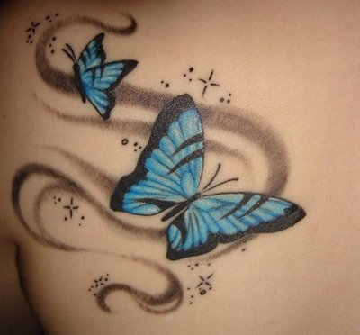 Free Tattoo Designs | Huge Tattoos Gallery Angel, Butterfly