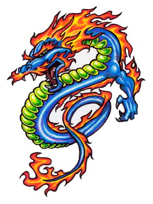 Free Dragon Tattoo Flash 01 – Printable