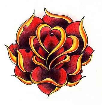 free flower tattoo flash