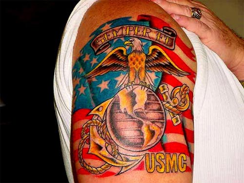 She has no concept of the military at all let alone the Marine Corps … Marine Corps Tattoo Art | Tattoo Designs