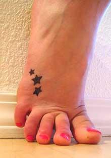 star tattoos foot