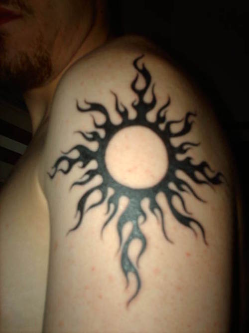 Tribal Sun Tattoo Pictures Gallery tribal sun tattoo photos submitted